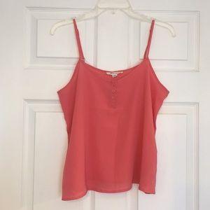 Forever 21 coral orange spaghetti strap shirt